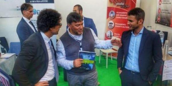Il ministro dei Trasporti Danilo Toninelli incontra Seismic Device al Saie 2018 di Bologna